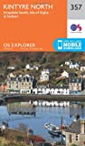 Ordnance Survey Explorer 357 Kintyre North Map With Digital Version