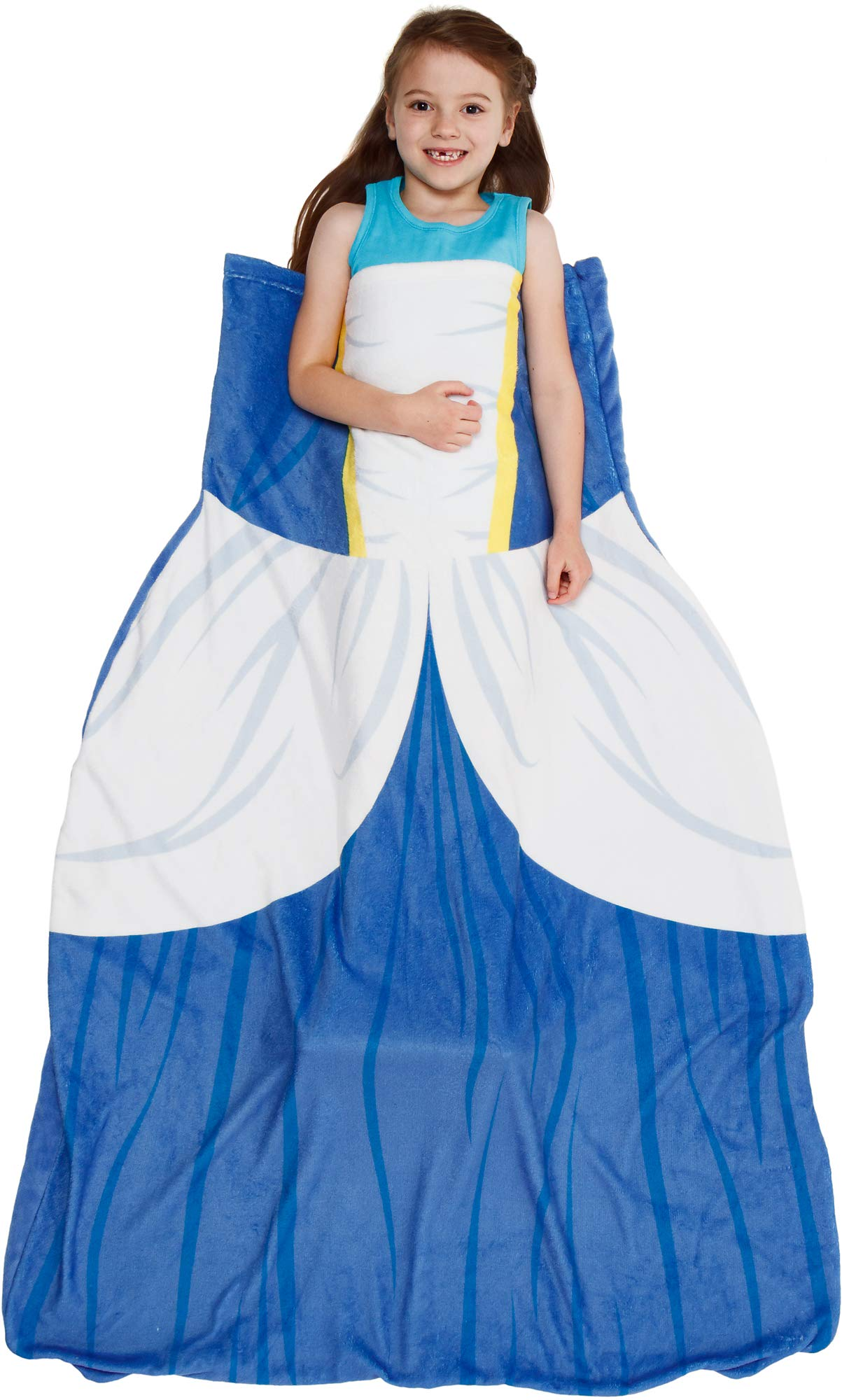 Silver Lilly Princess Dress Blanket - Girl's Dress Up Costume Fleece Sleeping Bag Blanket (Blue) by Silver Lilly
