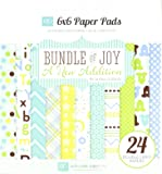 Echo Park papier double face de 15 cm x 15 cm/24/pkg-bundle de Joy/un nouveau addition-baby garçon