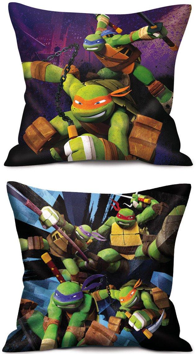 Las tortugas Ninja juego de 2 almohadas Teenage Mutant Ninja ...