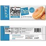 Paleo Thin Protein Bar 20g Egg White Protein (Glazed Donut) (Gluten-Free w/5 Net Carbs) 190 Calories