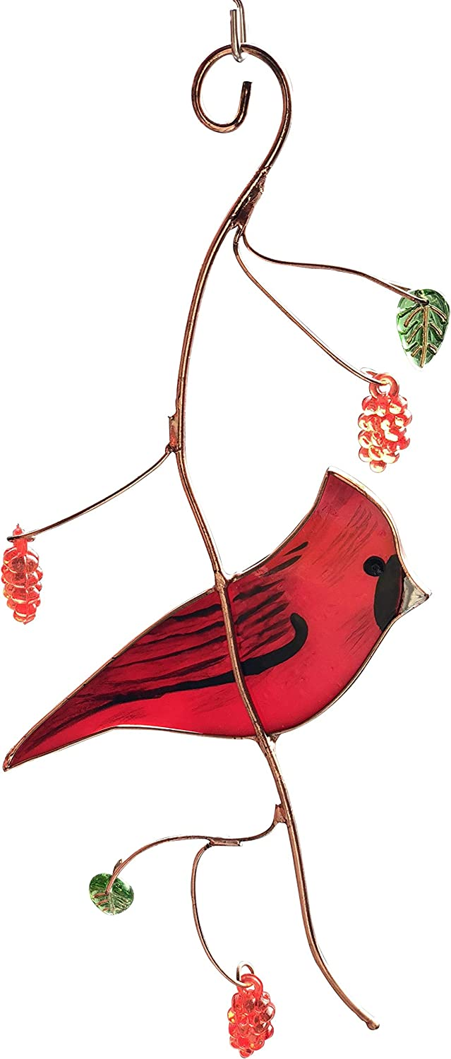 """Handmade Cardinal Decoration for Wall or Window