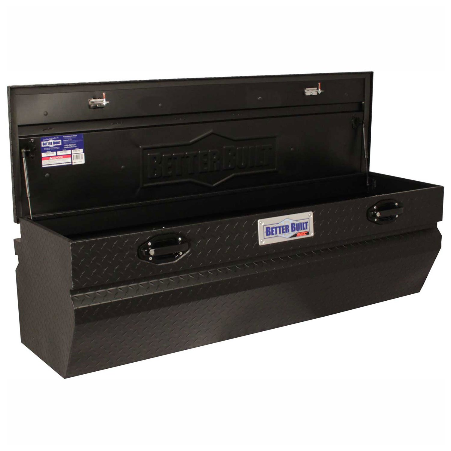 Better Built Aluminum 56'' Truck Chest, Matte Black, Single Lid - 79212438