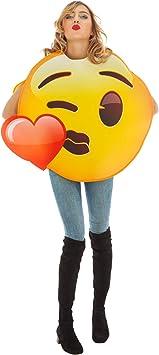 Generique - Disfraz Emoji Beso de corazón Adulto Única: Amazon ...