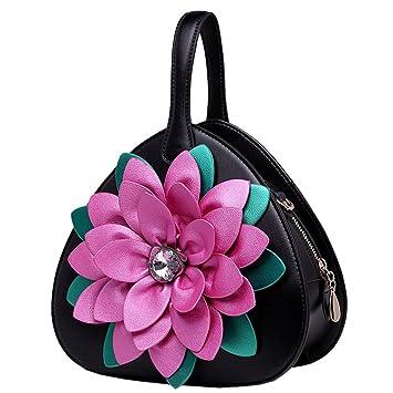 fd41c371f8 SunyixinNb Sac à bandoulière unique pour femme avec sac à main fleur,noir