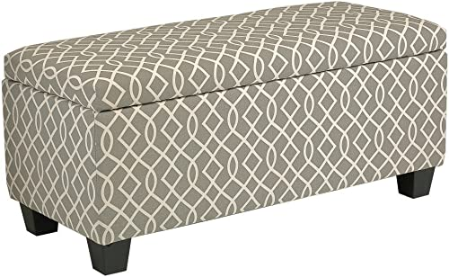 Cortesi Home Kiki Fabric Storage Long Bench Ottoman