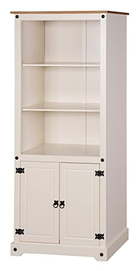low priced e7575 1af05 Mercers Furniture Corona Painted 2 Door Bookcase