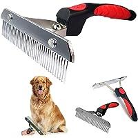 Cepillos para perros grandes, pelo largo, cepillo de aseo para mascotas con mango antideslizante, peine de acero para…