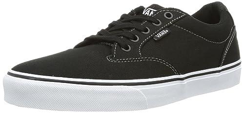 Vans M ATWOOD (CANVAS) BLACK/, Sneaker uomo, Negro - negro, 39