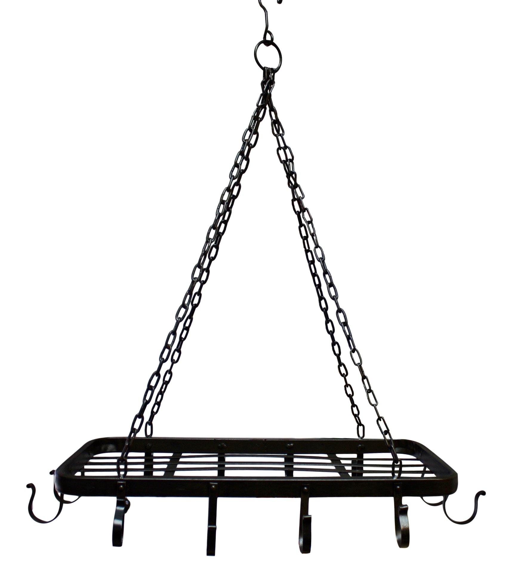 French Style Iron Hanging Ceiling Rack Suspension for Pots and Pans
