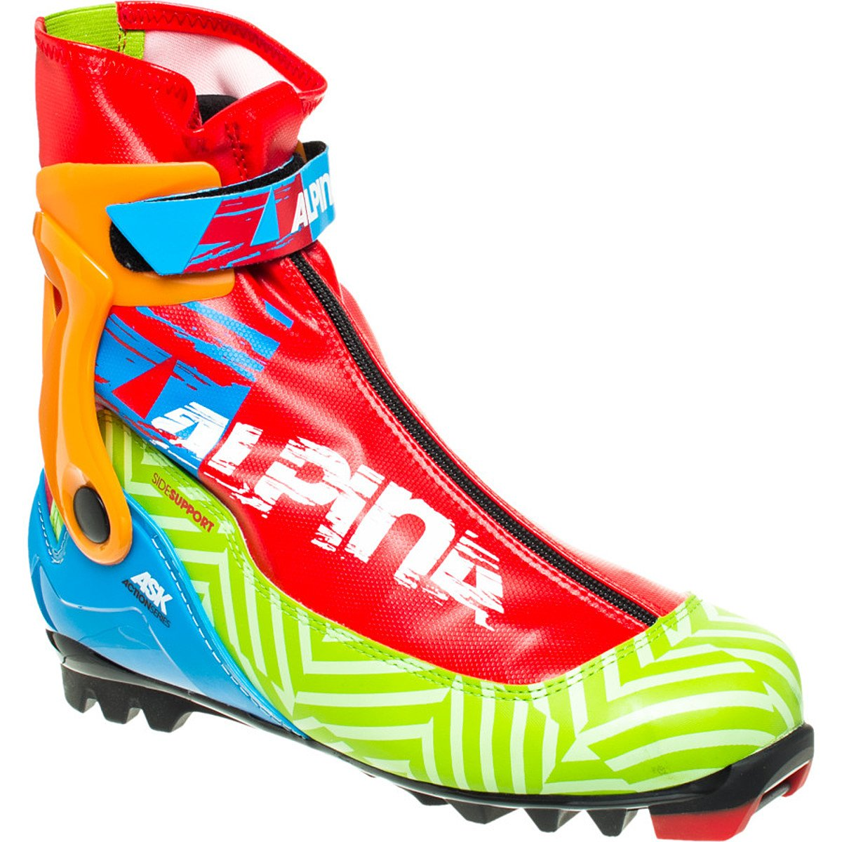 Alpina ASK Action Series Cross-Country Nordic Skate Ski Boots, Green ...