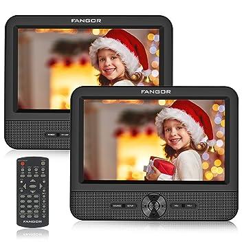 FANGOR Reproductor de DVD Portátil con 2 Pantallas 7.5