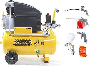 Abac Luftkompressor Art Abac 1129100008 Liter 24 Position 8 Bar Hp2 Mit Set 5 Stück Art Abac 8973005547 Neues Modell Ok Baumarkt
