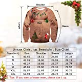 uideazone Men Womens Ugly Cat Eat Pizza Shirt Women Men Christmas Pullover Sweatshirts X-mas Gift