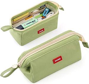 CICIMELON Pencil Case Large Capacity Pencil Pouch Pen Bag for School Teen Girl Boy Men Women (Green)