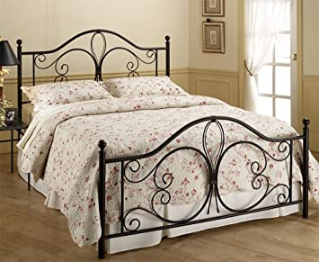 hillsdale furniture 1014bfr milwaukee bed set with rails full antique brown