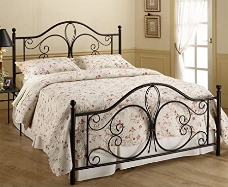 Hillsdale Furniture 1014BFR Milwaukee Bed Set with Rails, Full, Antique  Brown - Amazon.com: Hillsdale Furniture 1014BFR Milwaukee Bed Set With