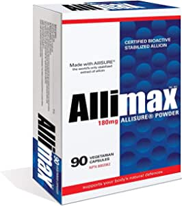 Allimax 180mg 90 Capsules. Supports Your Body's Immune Function Through Natural Allicin, a Potent Organosulphur Compound Extracted from Clean and Sustainable Spanish Grown Garlic.
