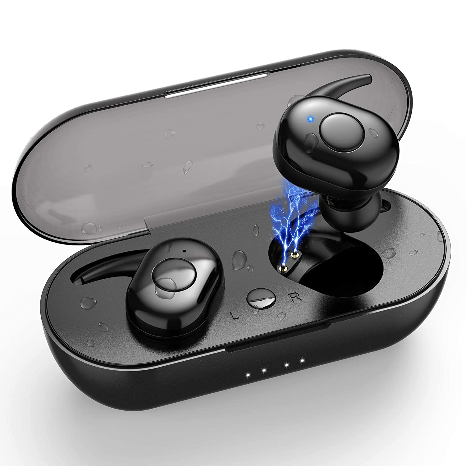 Best Truly Wireless Earbuds 2020.Wireless Earbuds 2020 Upgraded True Bluetooth Headphones Bluetooth 5 0 Ipx7 Waterproof Stereo Hi Fi Sound Wireless Earphones With Portable