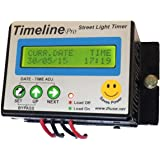 Timeline Metal Programmable Street Light Timer with Surge Protection, Black