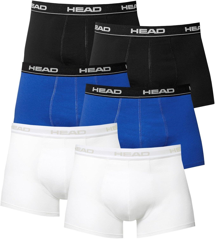 Black Head 6 Pack Boxer Short Men Pant Cotton Stretch Short Athletic Fit