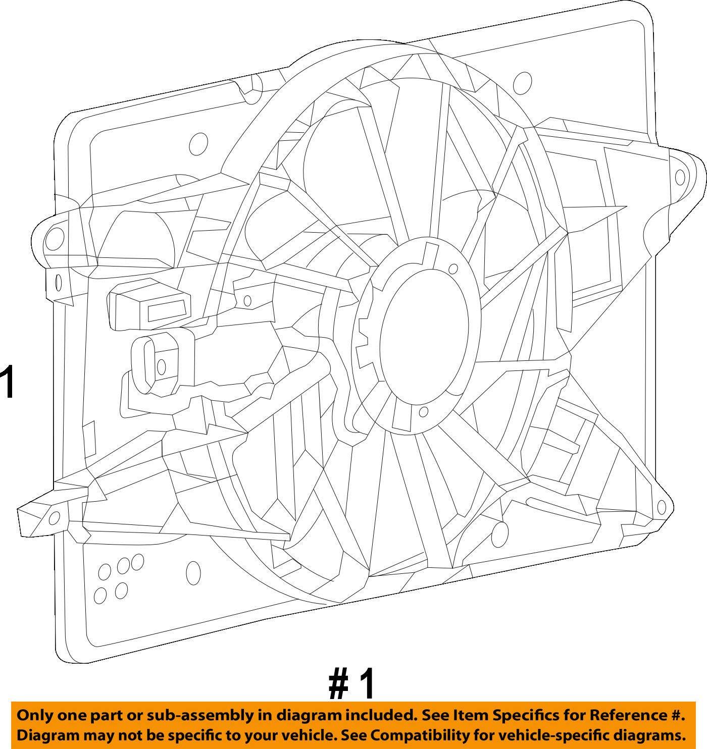 Engine Cooling Fan Assembly Mopar 6818 9127AA