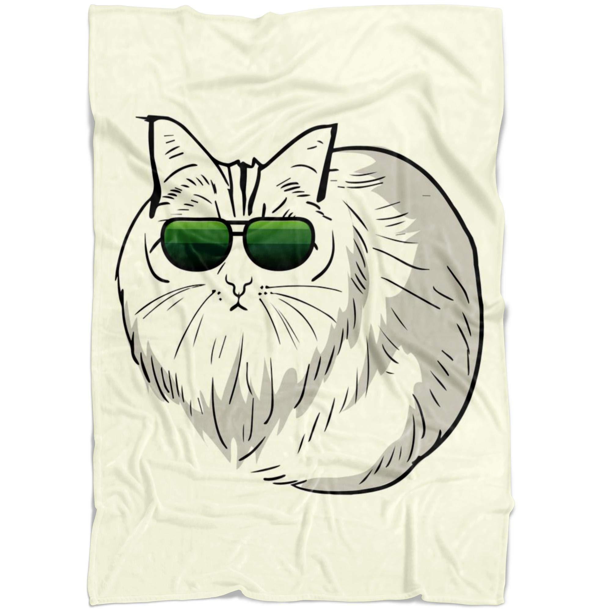 Weezag Birman Funny Cat Fleece Throw Blanket, Cute Pet Gifts 9188A, Medium 60''x50'' by Weezag (Image #1)