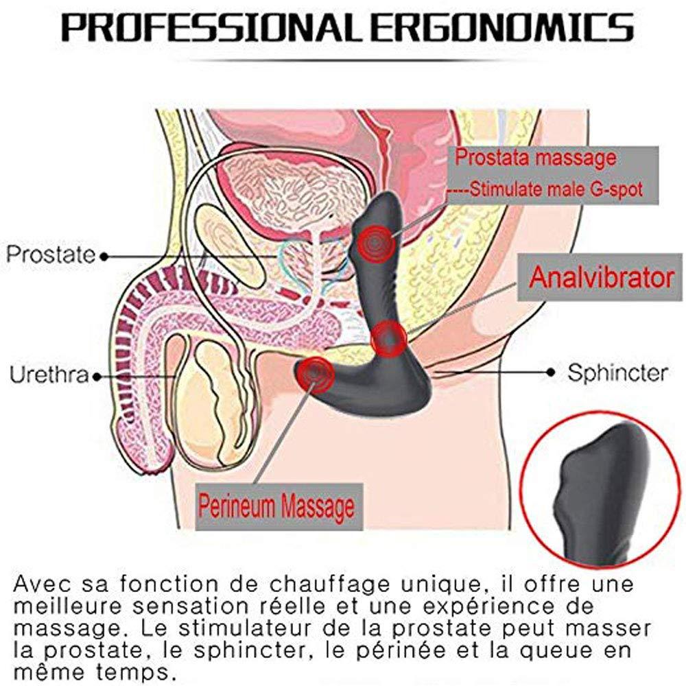 Estimulador Próstata Masajeador Eléctrica con Control USB Remoto 7 Modes + USB Control Carga + Impermeable Juguete Sexual 0a9ace