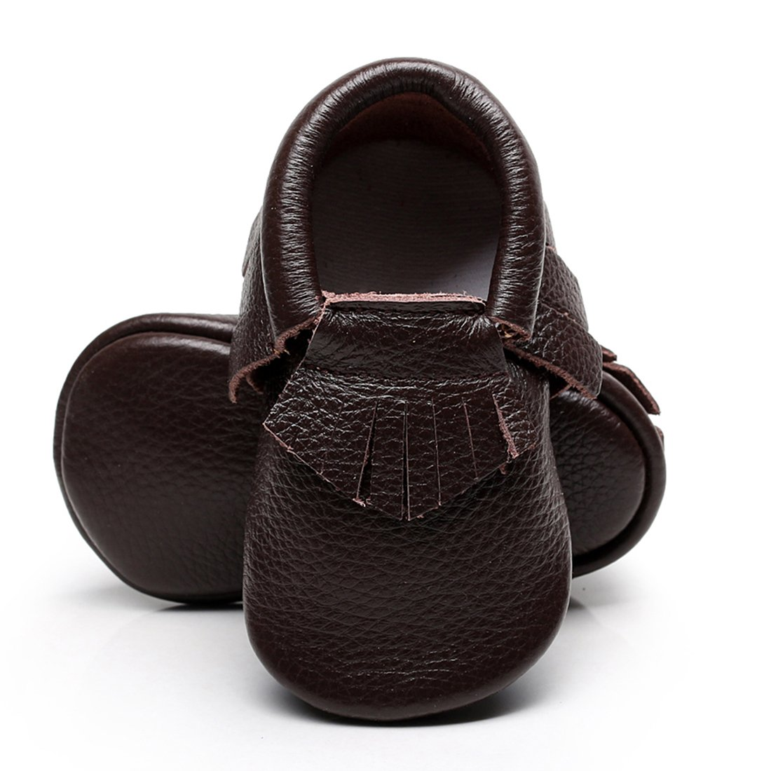 Infant Toddler Moccasins Baby Crib Shoes Soft Leather Sole Tassel Prewalker First Walkers for Boys Girls 0-24 Months WAZZIT