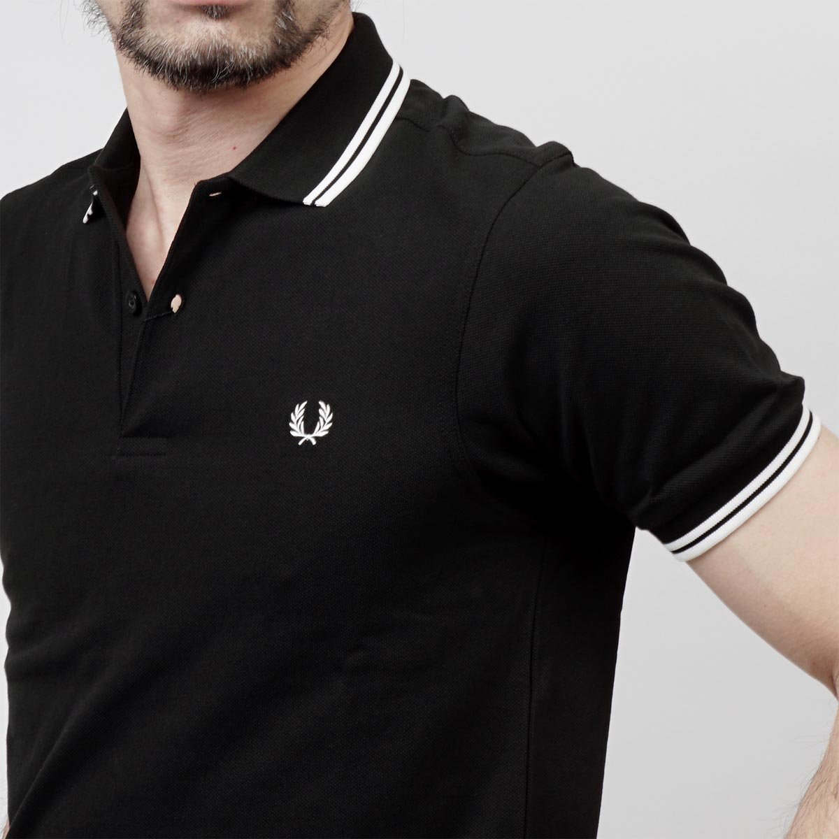 Fred Perry - Polo para Hombre, Color Negro Negro M: Amazon.es ...