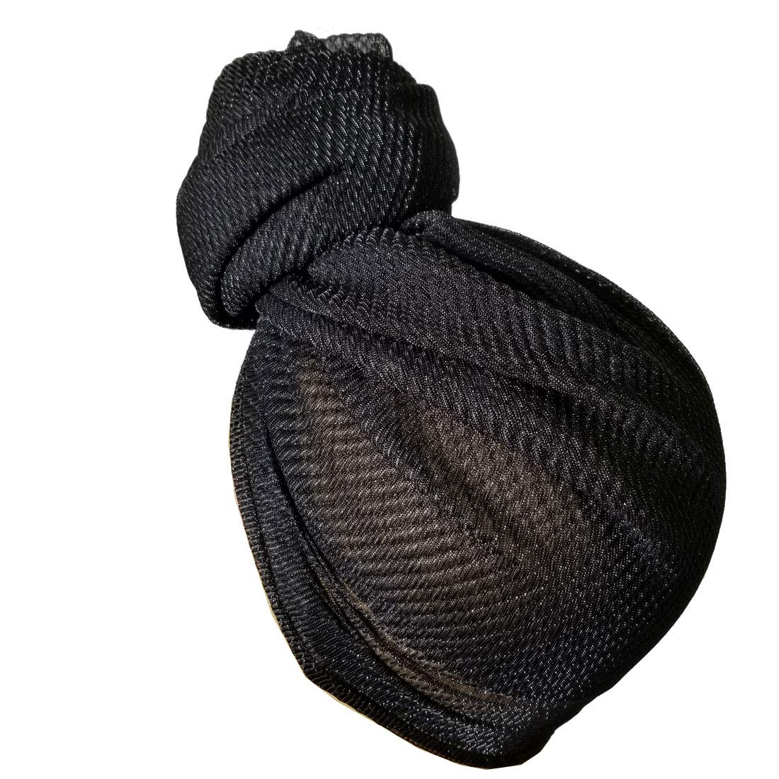 Stretch Head Wrap - Long Black Head Wrap Turban Hair Scarf Tie Color ... cad66c5b3f0