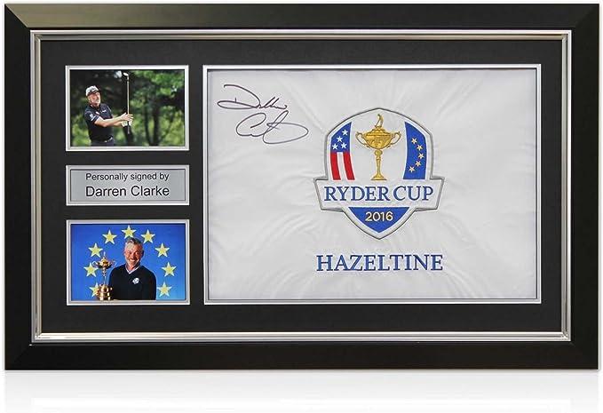 Darren Clarke Firmado Copa Ryder Blanca indicador de pin En Deluxe ...