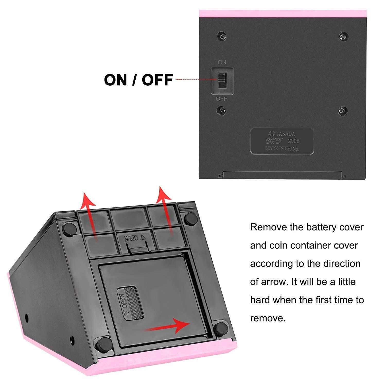 Color : Pink /Économiser de largent Bank Coin Bank Bo/îte automatique d/économiser de largent Face Bank Tirelire Outils M/énagers