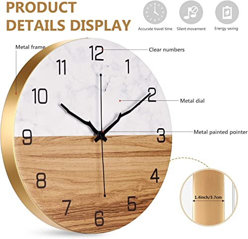 OURISE Modern Metal Wall Clock