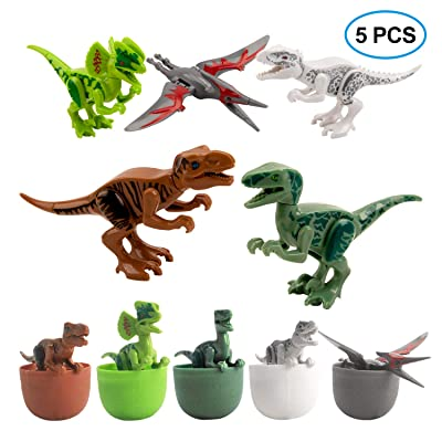 VOEER Dinosaur Toys for Kids, 5 Pack Unique Easter Eggs Basket Stuffers Deformable Dinosaur Desktop Decorations Eggs, Party Kids Gifts Toys and Science STEM Learning for Boys Girls: Toys & Games