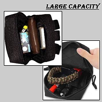ZAYOO Poche Tactique Sac Molle EDC Gadget Utilitaire Compact r/ésistant /à leau Poche de Taille Suspendue Sacoche pour Sports de Plein air