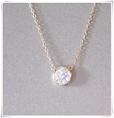 on diamond etsy in necklace pin by gold cestsla solitaire carats
