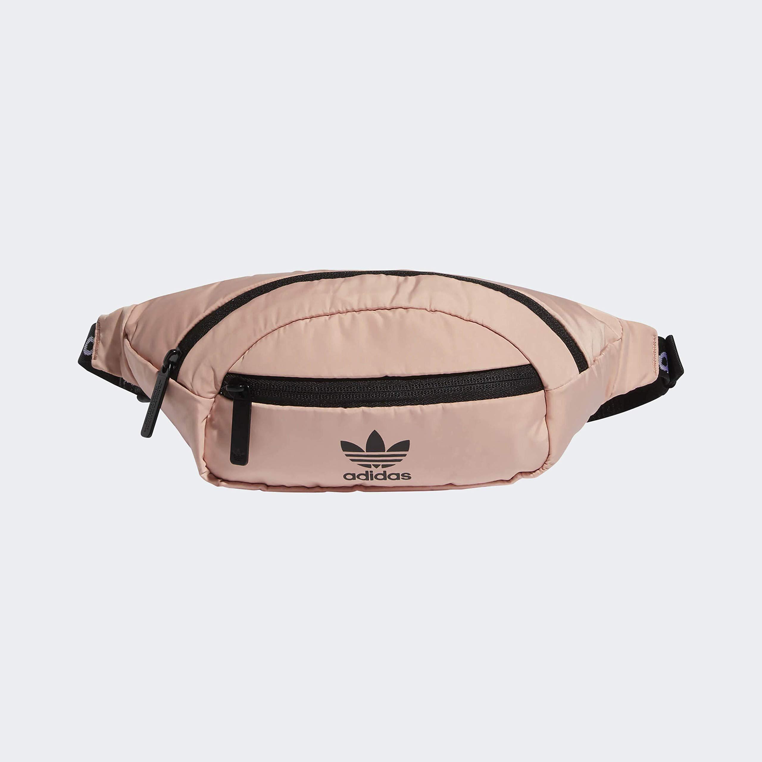 adidas Originals Unisex National Waist Pack, Dust Pink/Black, ONE SIZE by adidas Originals