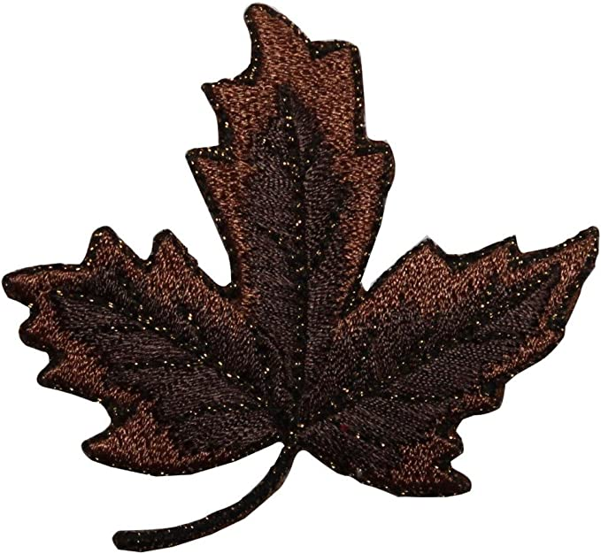 ID 1406 Maple Tree Branch With Leaves Patch Stick Embroidered Iron On Applique