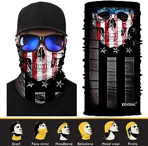 JOEYOUNG 3D Face Sun Mask, Neck Gaiter, Headwear, Magic Scarf, Balaclava, Bandana, Headband Fishing, Hunting, Yard Work, Running, Motorcycling, UV Protection, Great Men & Women