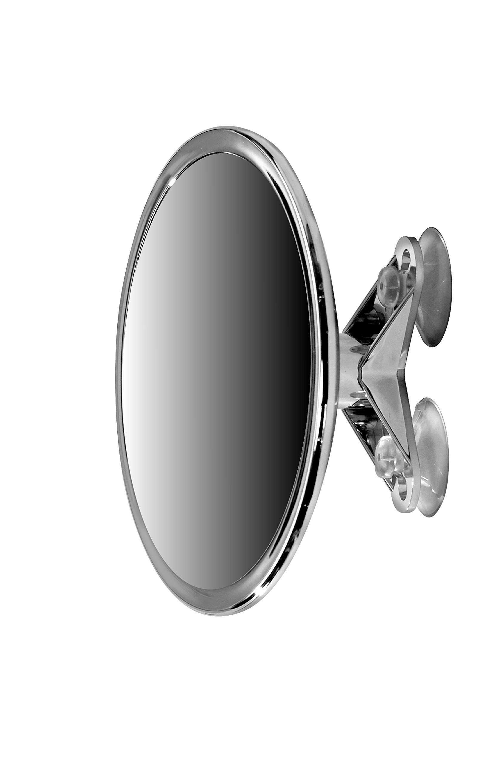 6'' Suction Mount Mirror - 5X Magnifying Vanity Makeup Mirror with 3-Point Super Suction, Pivoting, Rotating and Locking Suction