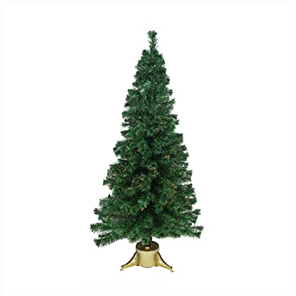 DAK 4' Pre-Lit Color Changing Fiber Optic Artificial Christmas Tree - Multi  Lights - Amazon.com: DAK 4' Pre-Lit Color Changing Fiber Optic Artificial