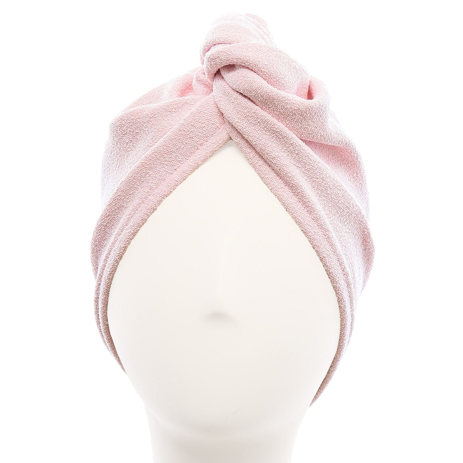 Aquis - Original Hair TURBAN, Patented Perfect Hands-Free Microfiber Hair Drying, Soft Pink (10 x 26 Inches)