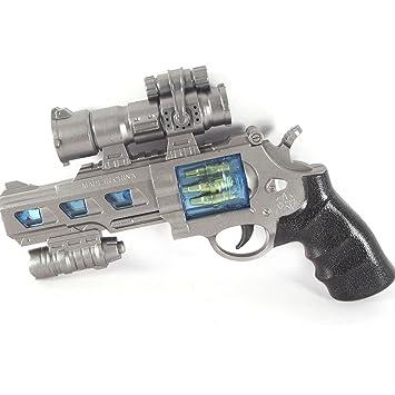 サバイバルゲーム 銃 光線銃 ピストル 拳銃 ガン やり マグナム おもちゃ 遊具 シルバー 男の子 ...