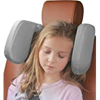 Car Headrest Pillow, Buluby [Extended Edition] Sleeping Head & Neck Support for Rear Seat Passengers -Grey