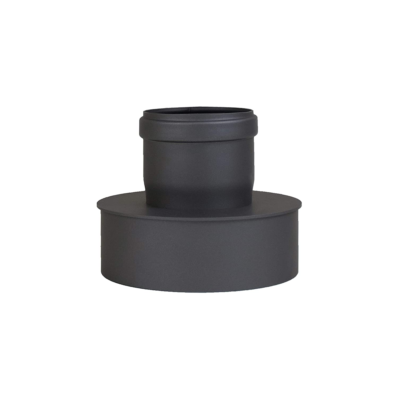 LANZZAS Pellet Pelletrauchrohr Pelletofenrohr Pelletkaminrohr Erweiterung Farbe schwarz /Ø 80 mm auf /Ø 150 mm