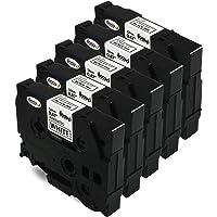 Madabcom, 5x Rubans Cassettes Compatibles Brother TZ-231 TZe231 12mm x 8m noir sur blanc étiqueteuse Laminé Etiqueteuse remplace Brother P-Touch 1000W 1010 1090 1830VP 2030VP 2100VP 2430PC 2470 2730VP 7100 VP7600VP H100R H300 D200VP 1000 PT-1010R -D600VP -E100 -H110 -D210 -9700PC -D400 -P700 -9800PCN 1290 -750W -1230PC et autres