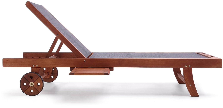 Strathwood Basics Sonnenliege, Holz mit Textil