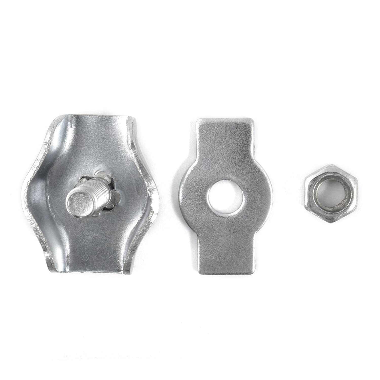 50 x SEILKLEMME SIMPLEX 3mm verzinkt Drahtseilklemme Stahlseil Seil Draht Stahl Drahtseil