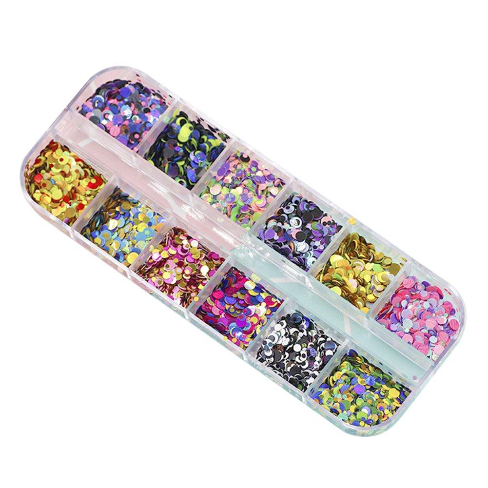Westeng Mixed Color Pegatinas de Uñas Diseño de Lentejuelas Nail Art Manicura Uñas Arts Decoración De Moda